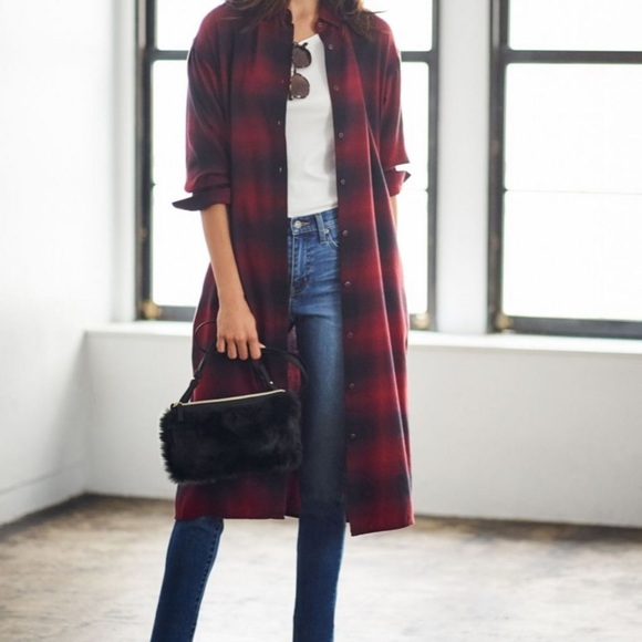 best selection of 2018 shoes release date Women flannel check long sleeve shirt dress